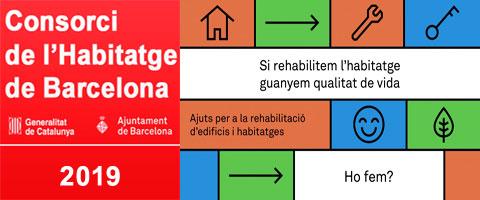 Nova convocatòria d'Ajuts 2019 per la Rehabilitació d'Edificis a Barcelona