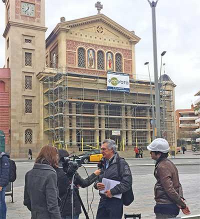 BTV emet reportatge sobre la rehabilitació de la façana de l'Esglesia de la Bonanova